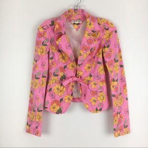 Tommy Hilfiger Jeans Pink Floral Jacket Blazer S